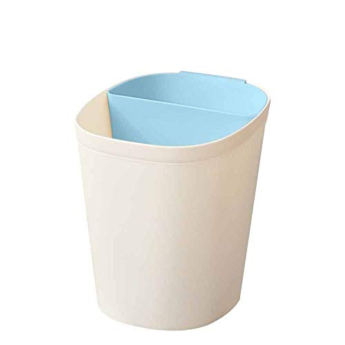 Yuxahiugljt Bote de Basura Que Ahorra Espacio de la Papelera.Gran plástico Papelera de baño, Cocina o la Oficina.Los ataques de Basura Bin bajo la mayoría de escritorios y (Color : Blue)
