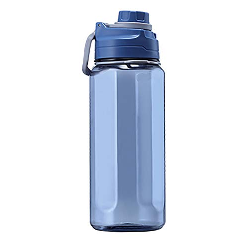 Dairxu Large Capacity Outdoor Sports Water Bottle Water Cups Drop Resistant Fitness With Straw Bike Running Gym Leak Proof Sports Water Bottle Top Cap Filter And Protein Shaker Bottle (Sky Blue, A)