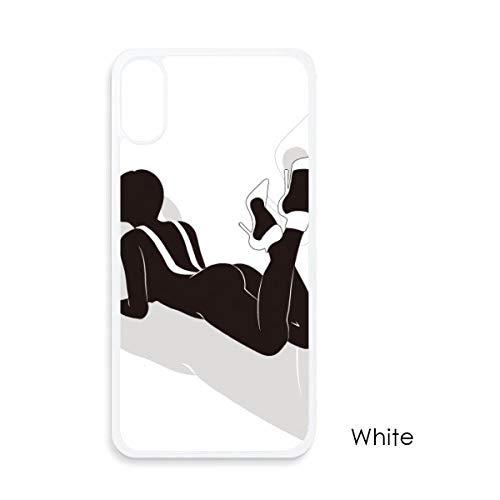 beatChong Hot mooie vrouwen hoge hakken voor iPhone X hoesjes witte Phonecase Apple Cover Case Gift