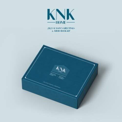 KNK 2021 Season's Greetings & Audio Book Kit (incl. Desk Calendar,Message Photocard, Postcard, Paper Door Hangers + Metal Badge)