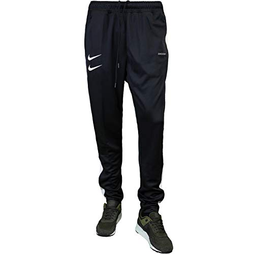 Nike Swoosh PK Sweatpants Jogginghosen (L, Black/White)