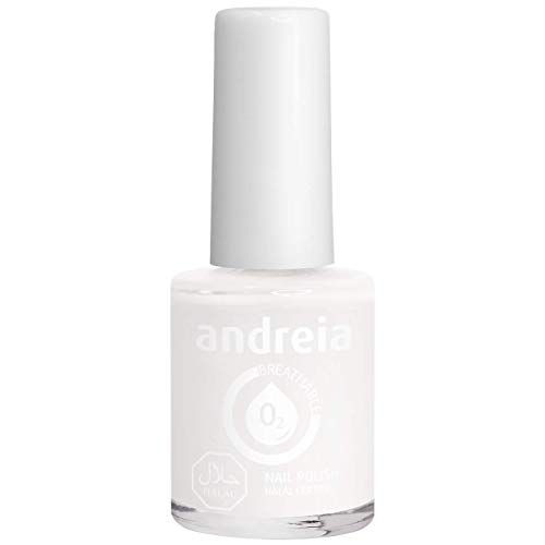 Andreia Halal ademend nagellak Vernis - Waterdoorlatend - B20 Pearl White - Shades of Clear and Blue | 10,5 ml