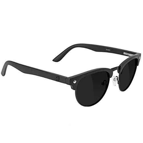 GLASSY Morrison Premium Plus Polarized Sunglasses with Anti-reflective Lenses, Black Out Frame