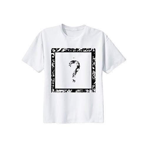 JLTPH Unisex Impreso Camiseta Cuello Redondo Manga Corta Cool Rapper Tshirt Hip Pop Tops para Hombres y Mujeres