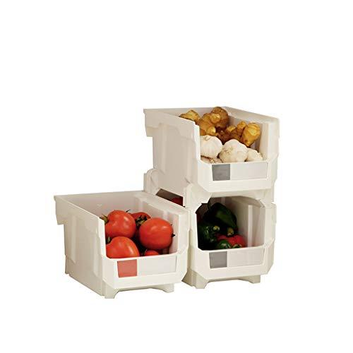 Bacs A Legumes Rangement En Plastique Pour La Cuisine Salle De Bain Organisateur De Salon Etagere A Fruits Et Legumes 35 8 X 31 2 X 22cm 4 Piece Panier A Fruit Et Legume Cuisine