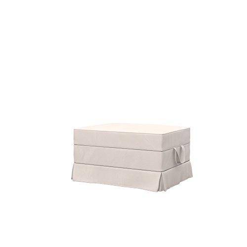 Soferia Bezug fur IKEA EKTORP Hocker, Stoff Eco Leather Creme