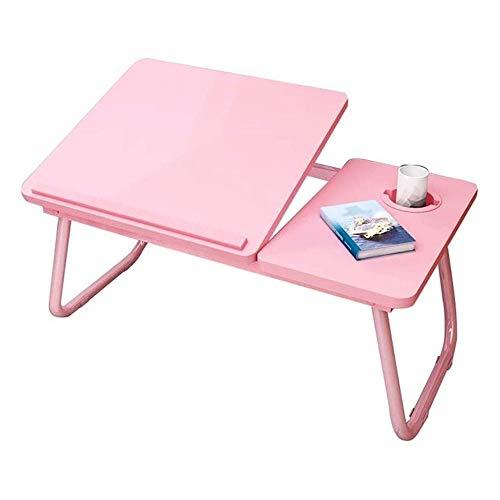 HEMFV Escritorio ergonómico para computadora Computadora de Escritorio, Ajustable Cama portátil Mesa portátil Tabla Plegable portátil, Computadoras y Accesorios, Estaciones de Trabajo (Color : Pink)