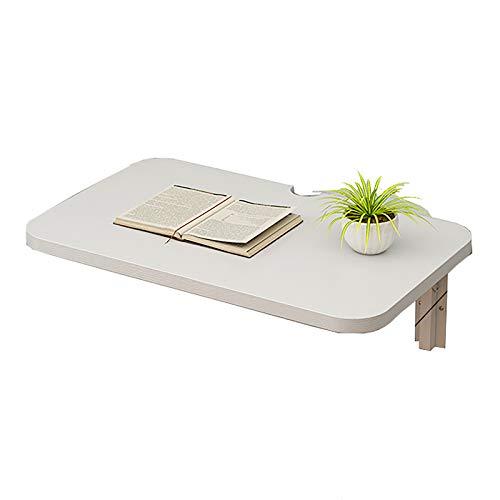Mesa plegable de pared multiusos que ahorra espacio, mesa de comedor flotante plegable duradera, carga máxima de 50 kg, para oficina, dormitorio, cocina (70 x 30 cm)