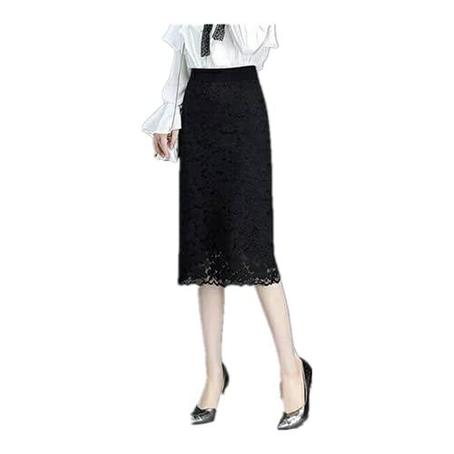 N\P Oficina de las señoras de cintura elástica lápiz falda de las mujeres casual cálido invierno de punto largo