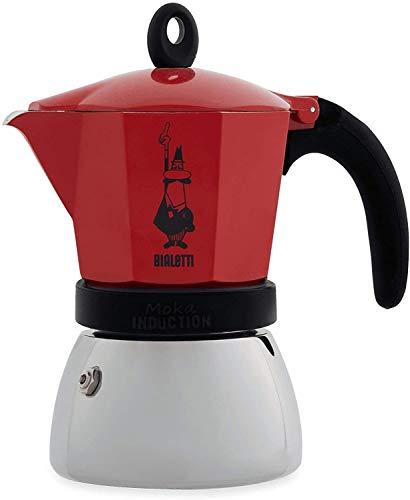 ビアレッティ エスプレッソ メーカー モカ インダクション レッド 6カップ用 IH 含め オール熱源 対応