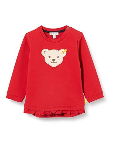 Steiff Sweatshirt Sweat-Shirt, Rouge (Tango Red 4008), 95 (Taille Fabricant: 080) Bébé Fille