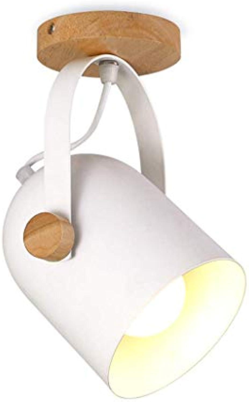 Nosterappou Rotierende verstellbare Lampe Krper Wandleuchte Kronleuchter, Massivholz Deckenleuchte, moderne kreative Zimmer Balkon Gang Lampe, weiter verbreitet, einfaches Design-Konzept, exquisite V