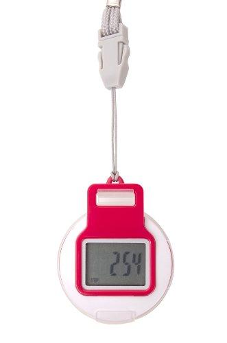 FA Sports FitMess 360° Pedometer, rot, 5,1x4,3x2 cm