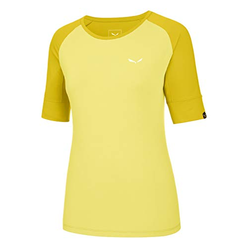 Salewa agner Climb Dry W S/S Tee, T-Shirt Femme, Femme, Agner Climb Dry W S/S Tee, Limelight/5730
