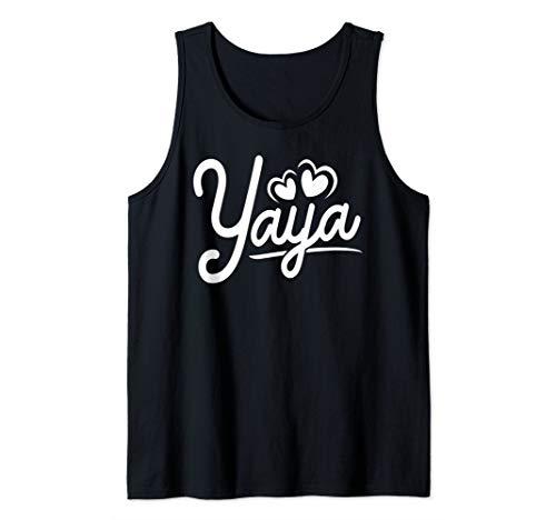 Yaya Gifts from Grandchildren Yaya for Grandma Cute Yaya Tank Top