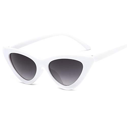 Sunglasses Gafas de Sol de Moda Gafas De Sol Triangulares Retro Pequeñas con Forma De Ojo De Gato para Mujer, Montura De