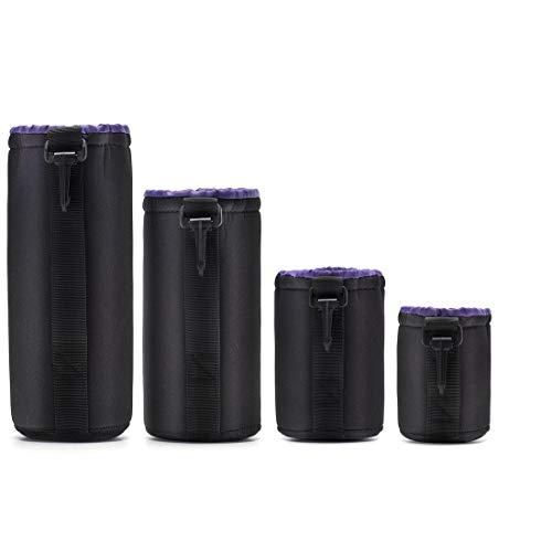 Neopren DSLR Camera Lens Pouch Schutz Tasche Case Set (4er Pack) von Altura Photo-Black