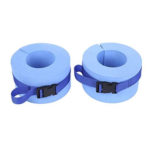 JDD 1 para Schaum Schwimmen Aquatic Cuffs Aqua Widerstand Übung Manschetten Wasser Aerobic Float Ring Fitness-Übungsset mit Schnellverschluss für Schwimmen
