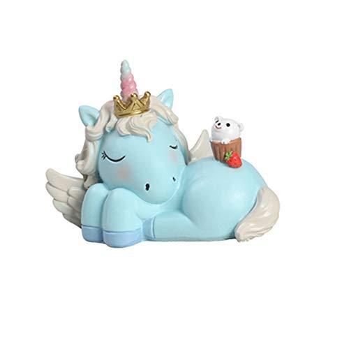 lujiaoshout Mini dulce so?oliento miniatura del unicornio figura mu?eca de la figura de resina modelo de juguete para ni?as regalos de habitaciones Dollhouse Decoraciones del bebšŠ ni?os del partido