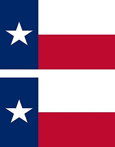 Akachafactory 2 x Sticker Vinyl Aufkleber-pc, Motiv: Flagge der USA Platzset, Texas