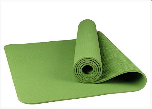 Tappetino per il fitness eco-friendly, insapore, tappetino per lo yoga, tappetino per il fitness TPE, tappetino antiscivolo Verde