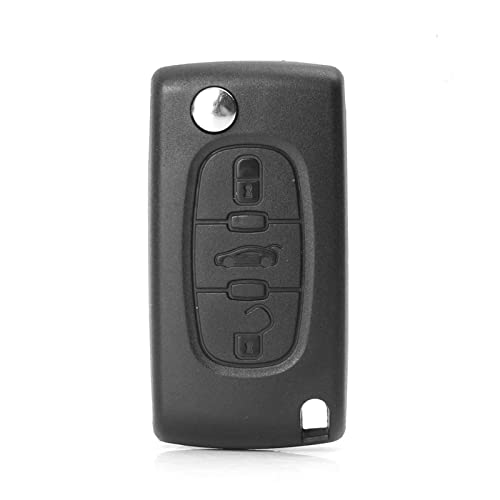 XUANXUAN NewRed Store 1 unids New Car Key Key Shell Black 3 Botones Funda Clave Compatible con Peugeot 207 307 407 SW 308 607