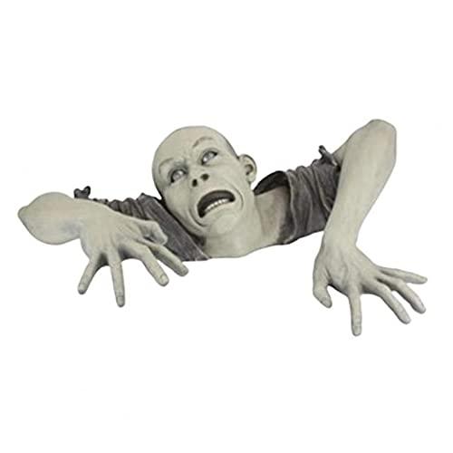 WUMN Estatua de jardín de Halloween Zombi, decoración de Halloween de miedo, decoraciones de Halloween al aire libre, decoraciones de fiesta de Halloween, decoración de Halloween