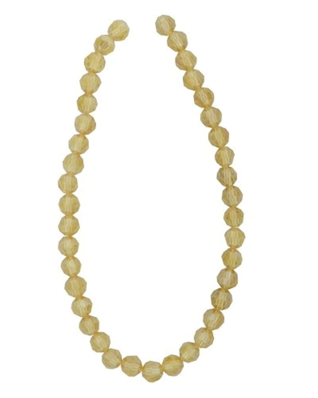 Tennessee Crafts 2795 Faceted Round Gold Champagne AB Finish Glass Bead, 39-Piece