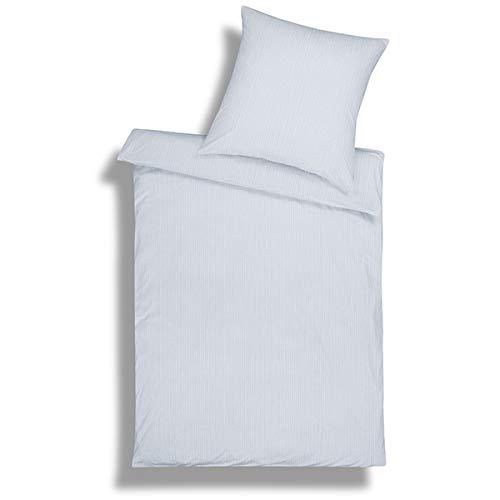Parure de lit en jersey interlock mako ED – 2 pièces – Couleur Argent 135x200 / 80x80 cm argent