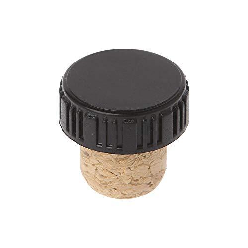 T-Forma T Tapones de Vino Tinto Tapón de Corcho Botella de Cocina Barra de Cocina Herramienta de Sellado Cap Scors para los Amantes del Vino (Color : Black)