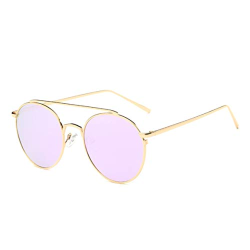 Libarty Estilo de Moda Moda Fresca Mujeres Marco de Metal Color Lente Redonda Gafas de Sol Uv400 Gafas de Moda Caliente