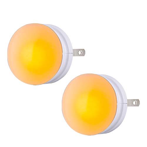 GE SleepLite LED Night Light, 2 Pack, Melatonin, Dusk-to-Dawn Sensor, Natural Sleep Aid, Warm Amber, Compact, Ideal for Bedroom, Nursery, Bathroom, Hallway, 45247, 2 Count