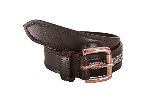 Pikeur Childrens Gliter Belt - Dark Brown