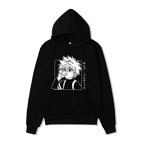 HxH Anime Hunter X Hunter Sudaderas con Capucha Killua algodón Hoodie Streetswear Sudadera Tops