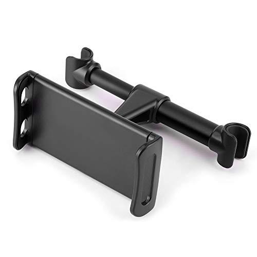 Soporte giratorio para teléfono, estable, robusto, suave, ajustado, protector, cojín trasero para coche, soporte para hombres, reposacabezas, teléfono móvil(black)