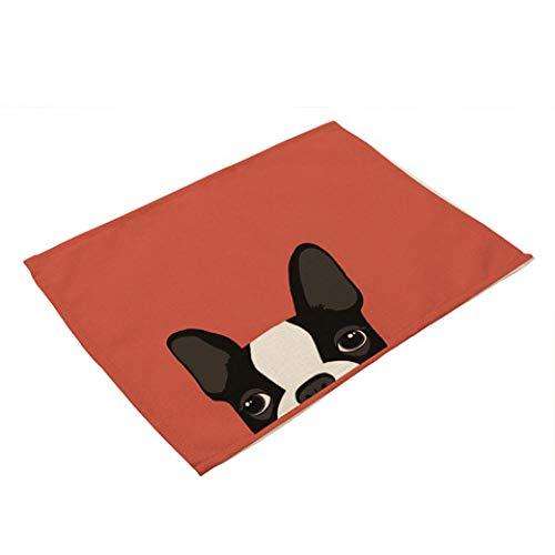 Sottobicchieri In Ceramica 2 Pz Cane Gatto Cartone Animato Animale Sottobicchieri Tappetino Impermeabile Tappetino In Lino Lino Cotone Tavolo Da Pranzo Accessori Decorazione Piatto Pad Tazza Pet Cane