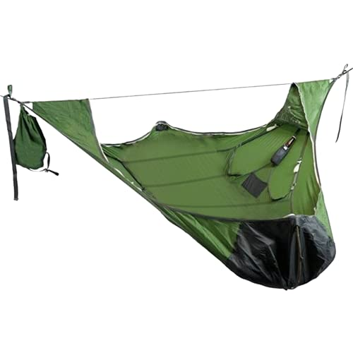 Dzhzuj 2021 New Flat Sleep Swing Hammock,Tent Hammock Swing Chair with Bug Net and Suspension Kit,Portable Camping Hammock for Backpacking, Backyard, Patio, Hiking (Green)