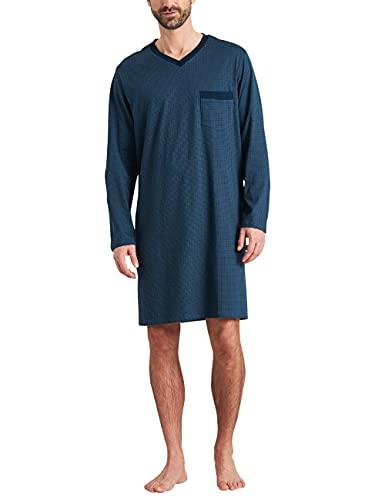 Schiesser Herren Langarm Nachthemd, Jeansblau, 58