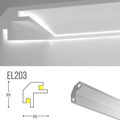 Bilderrahmen für indirekte LED-Beleuchtung an Wand und Decke - EL203 (1,15 Meter)