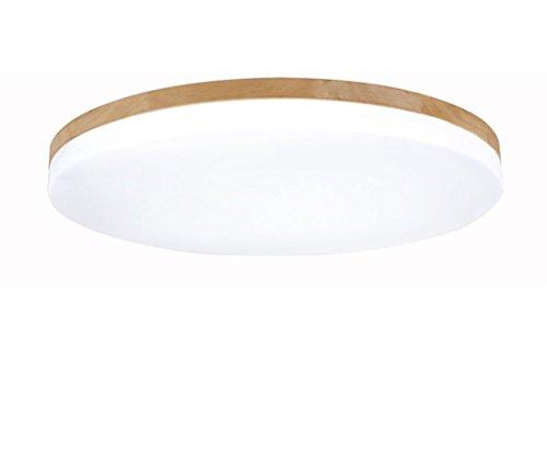 SJUN plafón Madera Salón Lámpara Redonda Plana Salón Proyección Madera Roble lámpara...