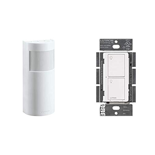 Lutron Caseta Motion Sensor with Smart Switch | Occupancy/Vacancy | Switch for Ceiling Fans, Exhaust Fans, LED, Incandesent, Halogen Bulbs