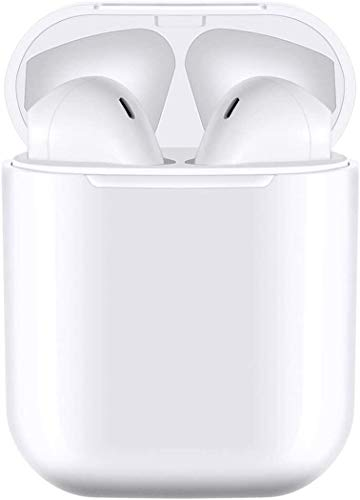 Bluetooth Earphone Earbuds, Stereo in-Ear with Microphone and Charging Box, with Noise Reduction Compatible with Airpods/Apple Airpods/Android/Samsung