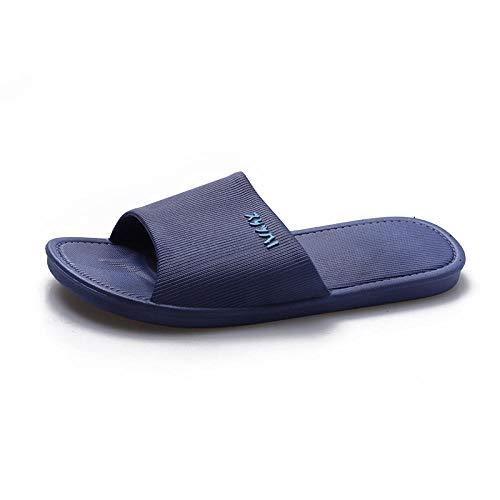 Nwarmsouth Casa Interior sin Cordones, Sandalias cómodas de Suela Blanda, Zapatillas de baño para baño-2 Azul Oscuro_38-39, Sandalias de Fitness