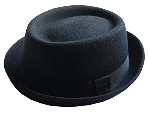 Cool4 Sombrero de lana de Pork Pie Vintage SKA Porkpie Hat Rocky Breaking Bad Hackman PP10 (59)