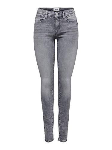 ONLY Damen Onlshape Life Reg Sk DNM Rea4732 Noos Jeans, Grey Denim, 29W / 32L