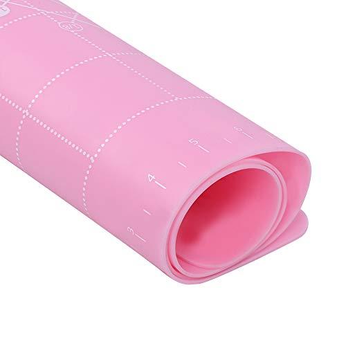 64 x 45 cm Esterilla de amasamiento reutilizable para panaderías caseras (【37411】Rosa 2 mm)