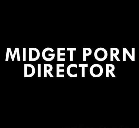 Midget Porn Director Funny Decal Sticker, Die Cut Vinyl Decal for Windows, Cars, Trucks, Tool Boxes, laptops, MacBook - virtually Any Hard, Smooth Surface