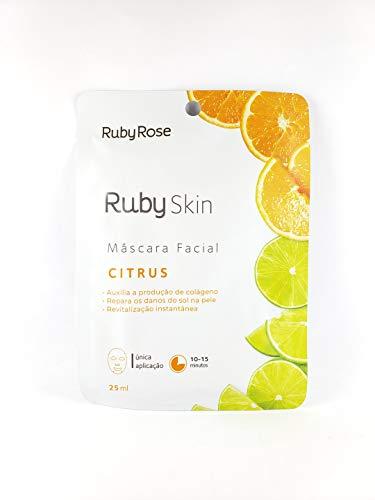 Máscara Facial De Tecido Skin Ruby Rose CITRUS HB-711