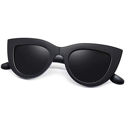 Joopin Gafas de Sol Mujer Ojos de Gato Retro UV400 Gafas Polarizadas de Moda Cateye Estilo Vintage Negras