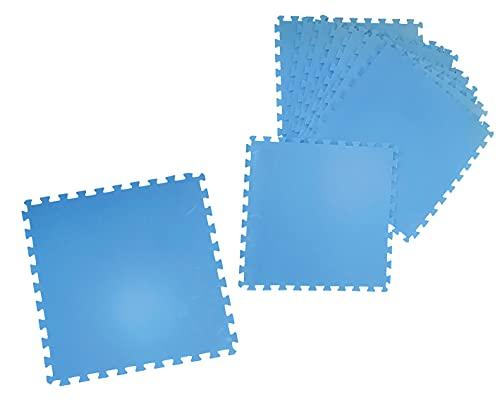 trendmile Premium Poolmatte 8 Stück 50x50 Set Blau Pool Bodenschutzfliesen Joga Matte Puzzle Unterlage Spielmatte Bodenmatte